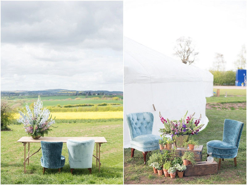 Wedding Yurts UK Spring wedding