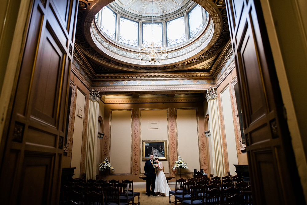 Intimate wedding at Bristol Town Hall by Gloucestershire wedding photographer