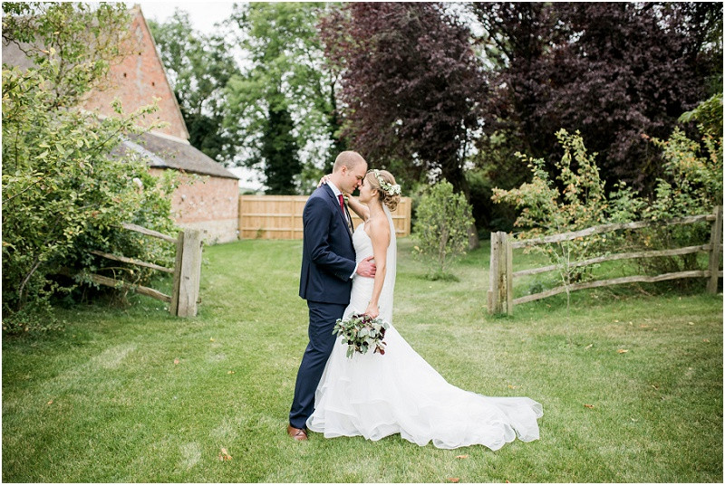 elegant bride and groom at Cotswolds wedding venue Blackwell Grange wedding photographer
