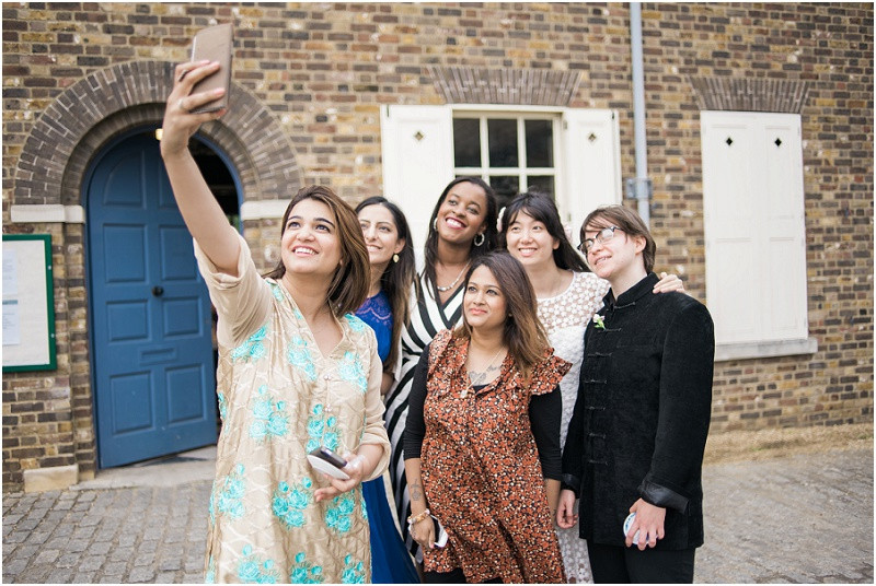 Guests take selfie at London Wedding The House Mill Bromley by Bow