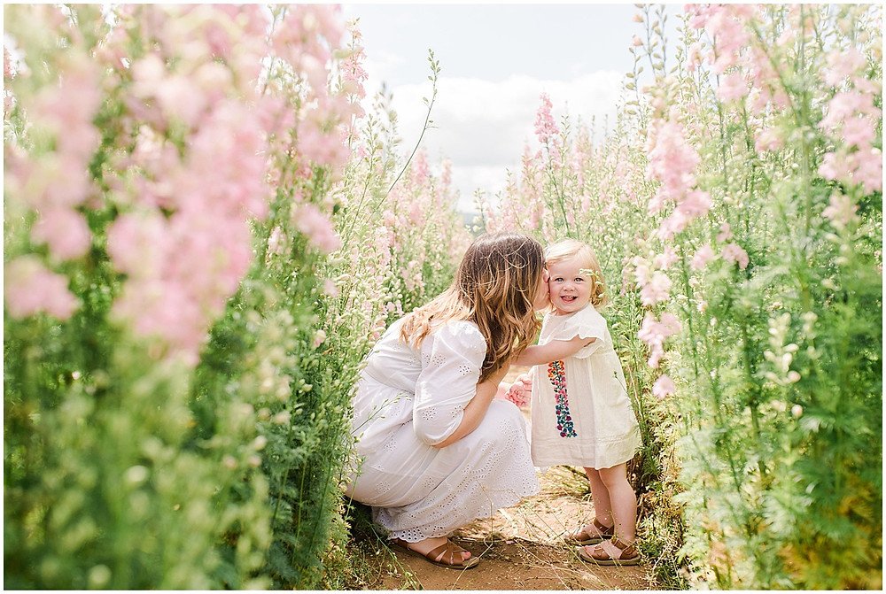 Light and airy family photography at the confetti fields