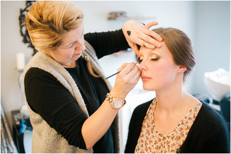 bride getting ready for cool, laidback wedding at Oh Me Oh My Liverpool