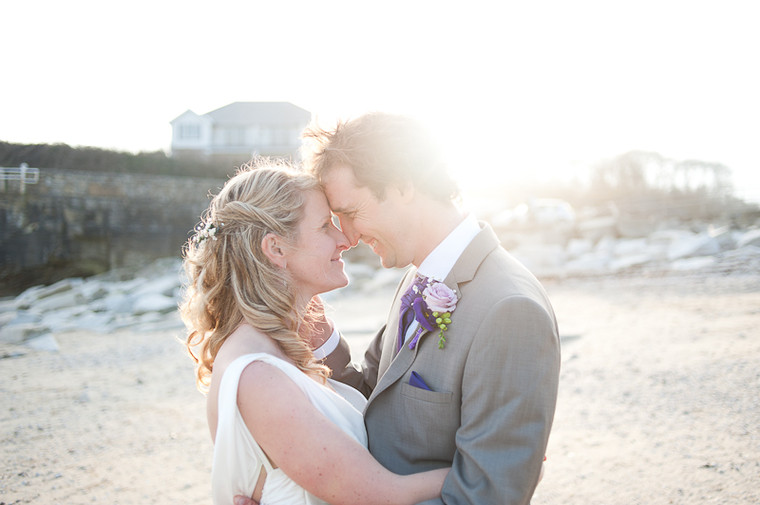 Simon and Roz laid back beach wedding at Gylly Beach cafe, Cornwall