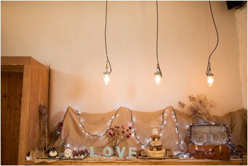 boho styling for wedding reception at River Cottage