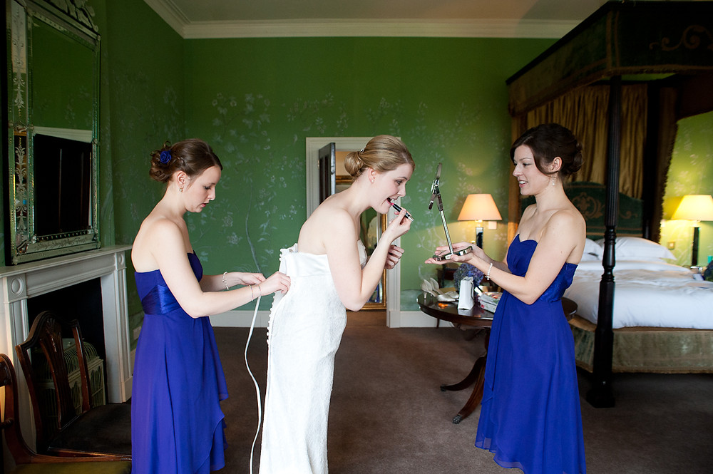 stubton hall wedding bride getting ready