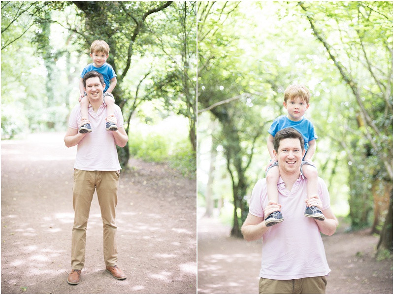 Cotswolds family photographer father and son