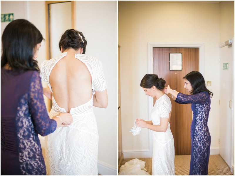 Abbey Hotel Malvern bride getting ready