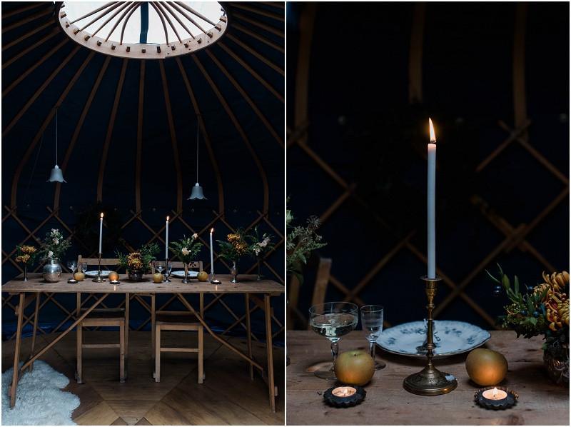 Cotswolds wedding photographer winter wedding yurt
