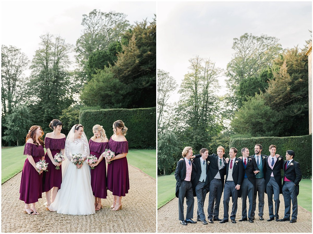 Bridesmaids and ushers at North Cadbury Court wedding