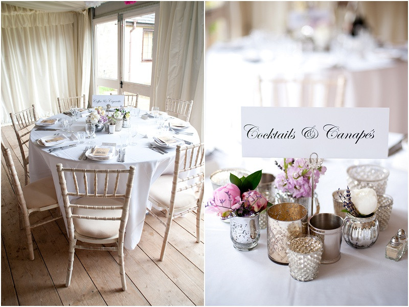 Elegant styling for a marquee wedding at The Moonraker wedding venue Wiltshire