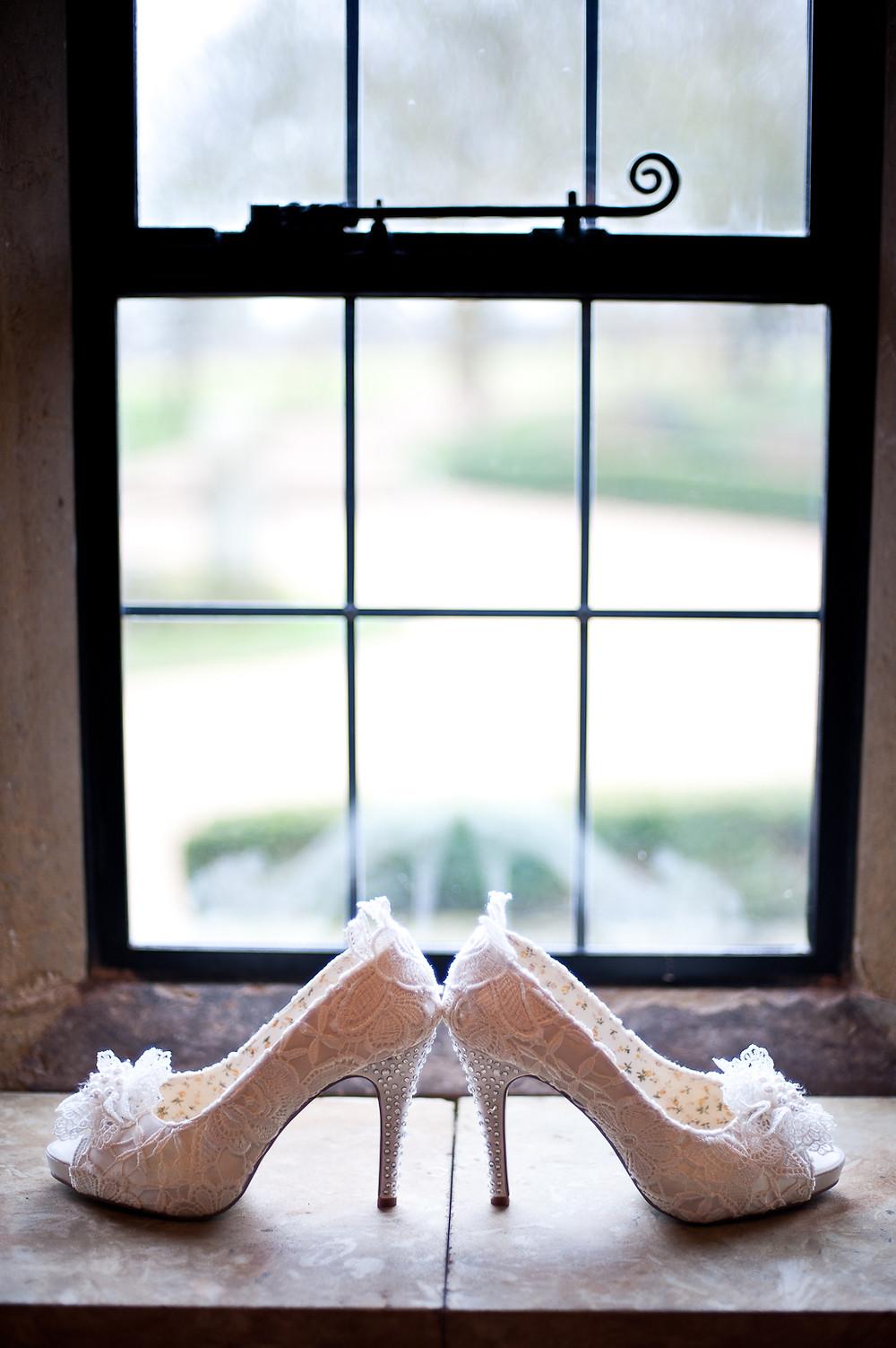 bridal shoes lace