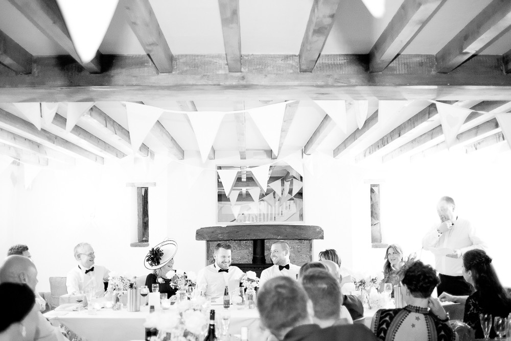 wedding speeches at The Outbuildings, Anglesey
