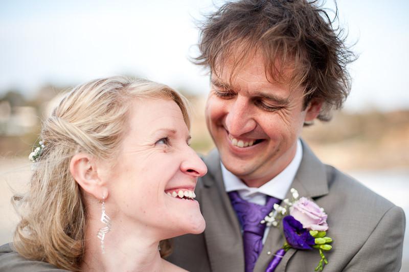 Cornwall beach wedding