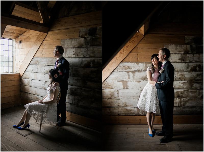 Elegant bride and groom in London Wedding