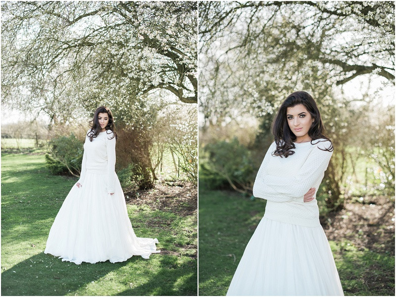 Cotswolds marquee wedding venue white simplicity fine art boho bride in skirt and top for marquee wedding