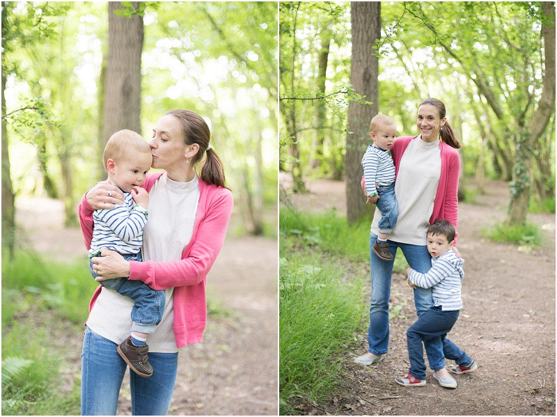 Cotswolds family photography mother and sons Worcester Woods