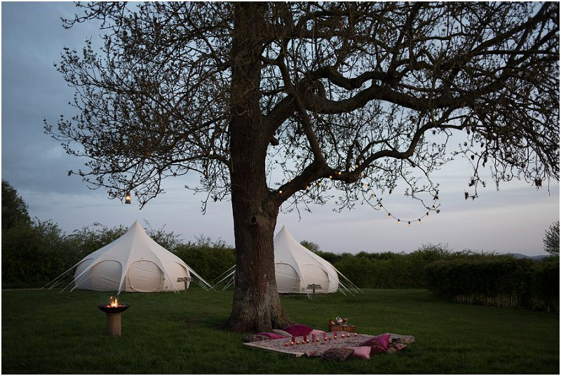 Eco friendly festival style wedding wedding yurt and bell tents