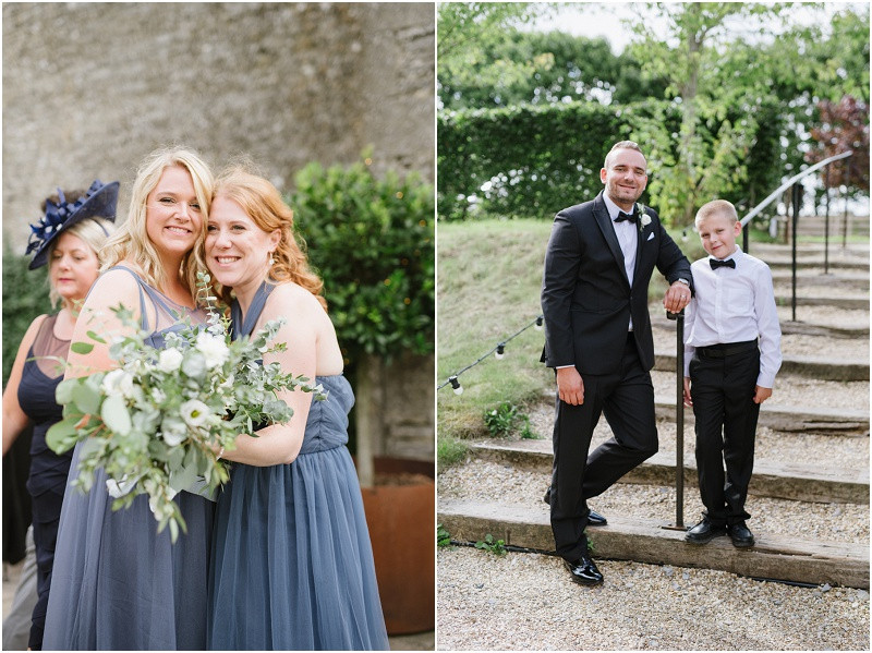 A pared back elegant wedding with back tie, herbs, flower crowns at Cripps Stone Barn