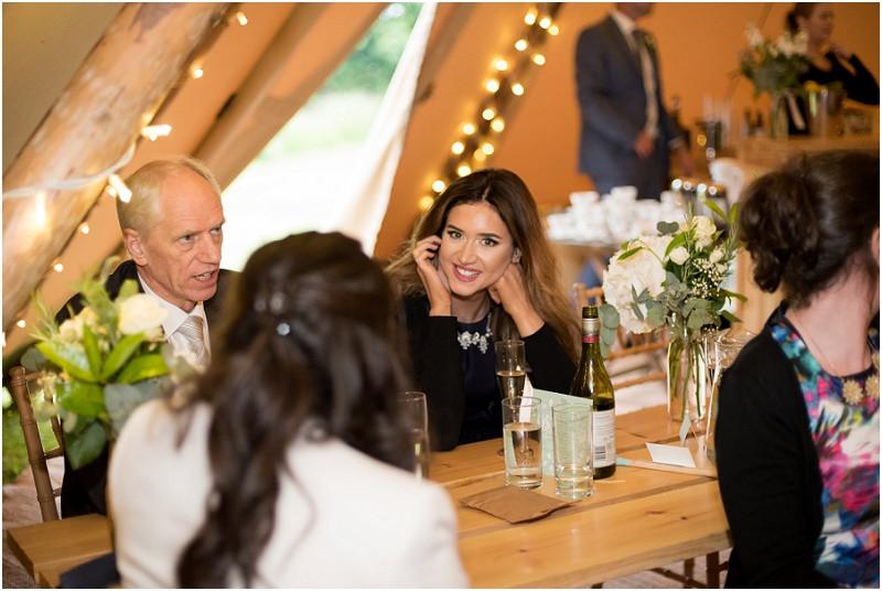 Boho tipi wedding Peak tipis Nottinghamshire guests