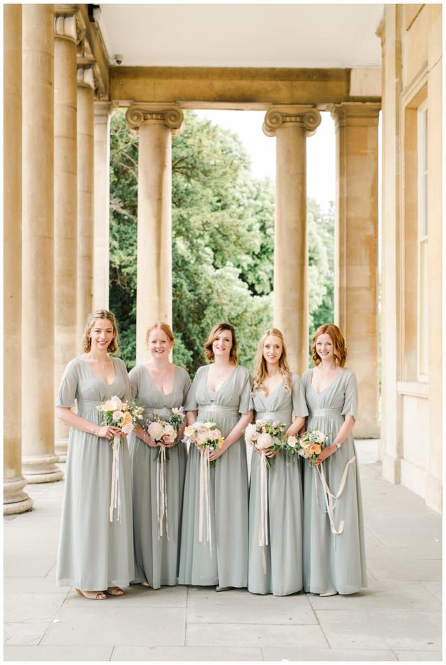Bridesmaids at Pitville Pump Rooms Cheltenham