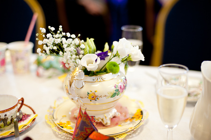 Cornish beach wedding afternoon tea party