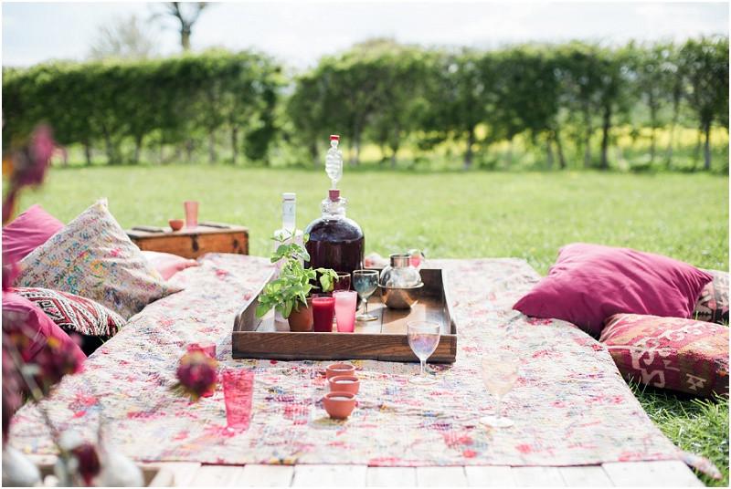 Eco friendly wedding yurt festival style picnic