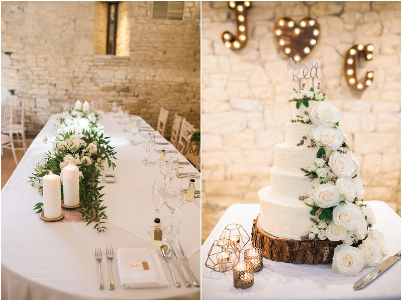 Black tie wedding at Great Tythe Barn Cotswolds wedding venue