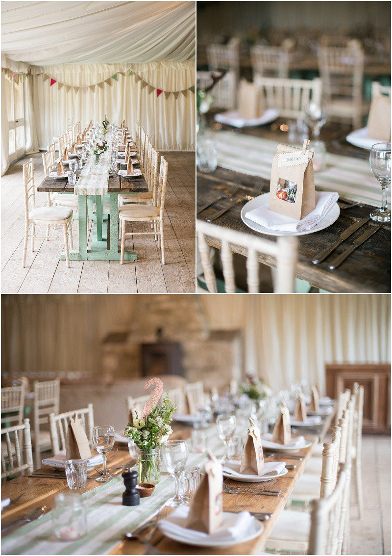 Rustic marquee at The Moonraker wedding venue Wiltshire