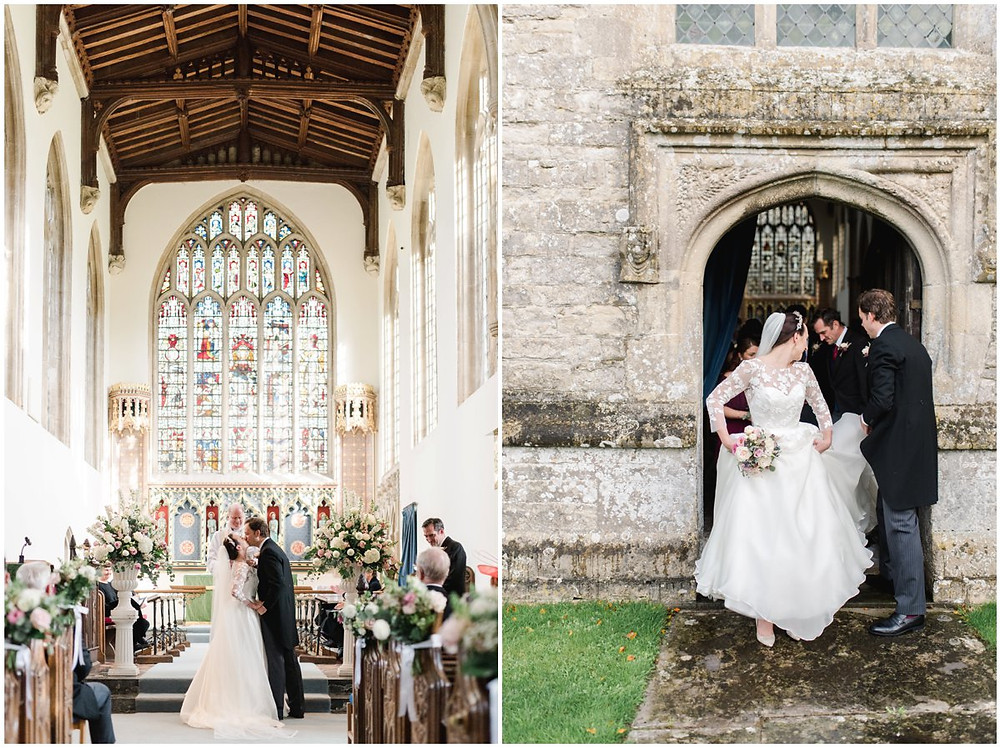 Church wedding at North Cadbury Court Somerset