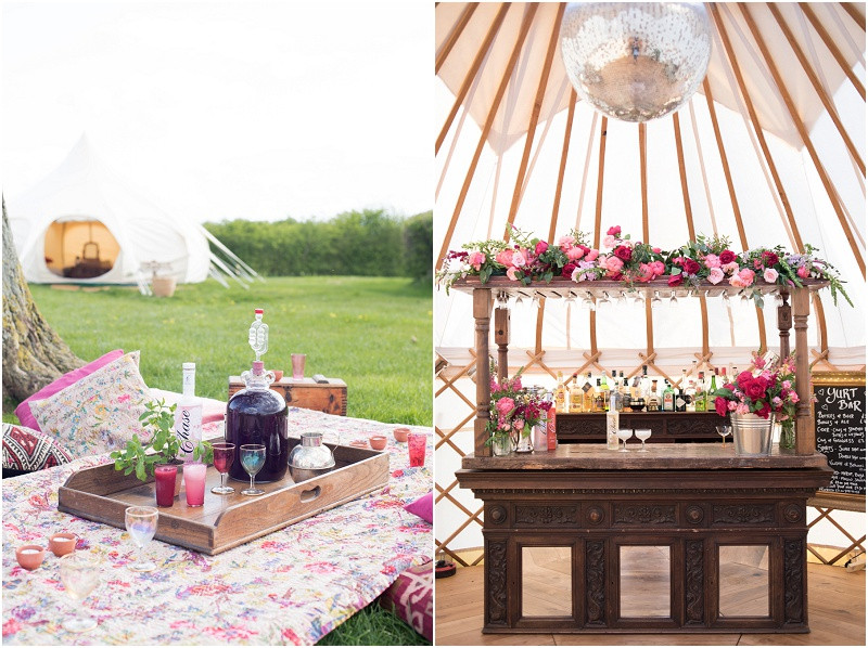 Wedding Yurts UK boho wedding
