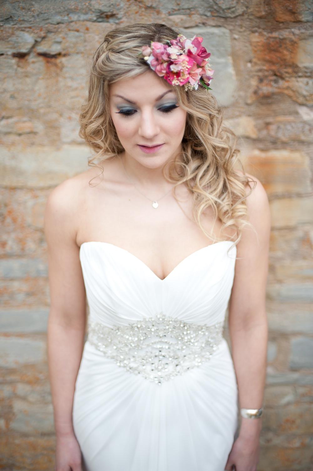 Rustic bride flower crown