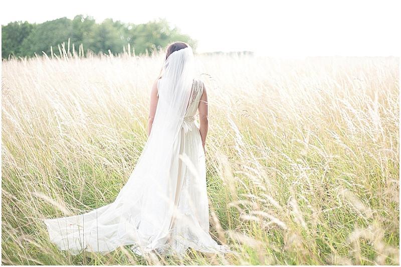 Charlie Brear weddiong dress for a boho wedding in Wiltshire