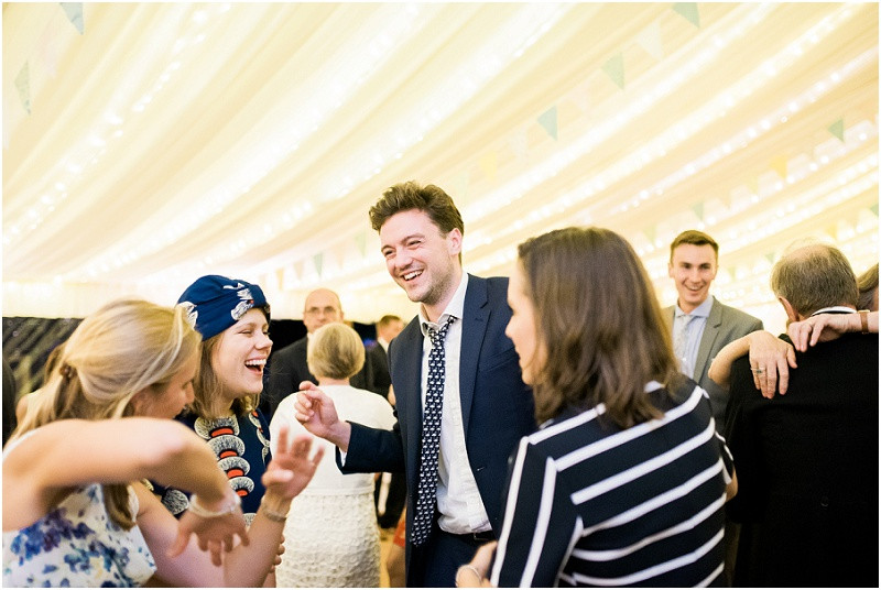 Cotswolds marquee wedding Oxford guests dancing