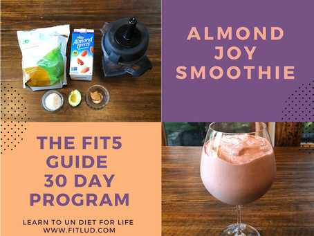 Almond Joy Bar the Fitlud way