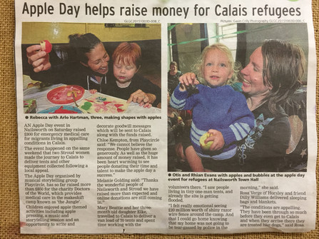 Apple Day helps raise money for refugees