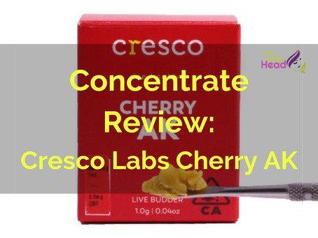 Concentrates Review: Cherry AK Live Budder (Cresco Labs)