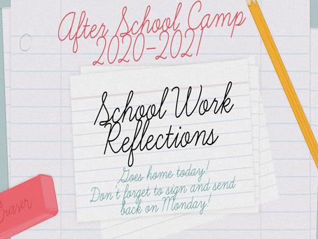 Friday Homework Reflections