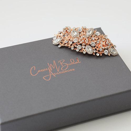gold and crystal hair pin