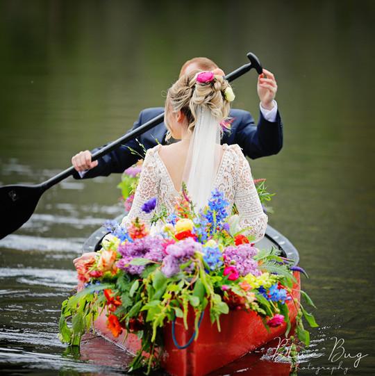 elegant bride hair