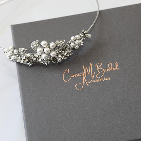 pearl and crystal hair band