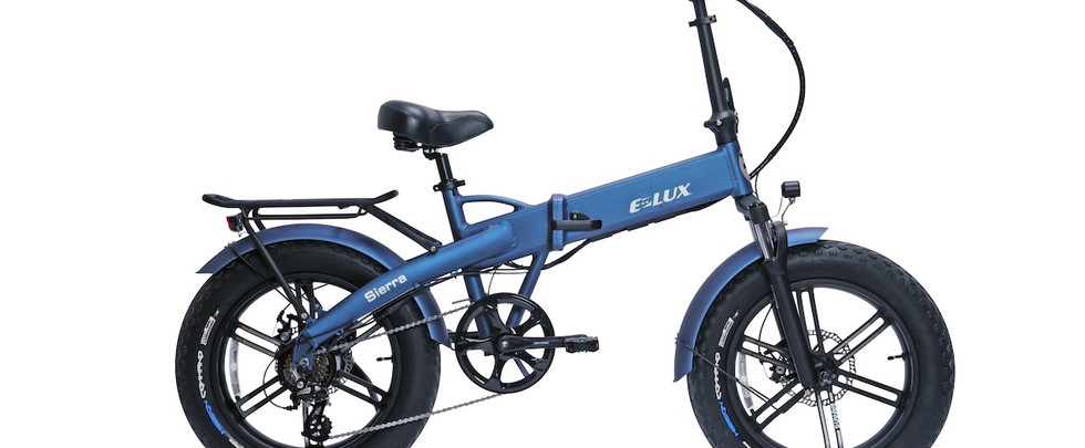 E-Lux Electric Bikes Sierra GT Cool Blue / Denim