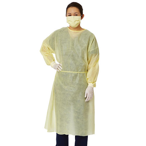 AMMI Level 2 – SBPP Non-Woven Disposable Isolation Gown: Case of 100