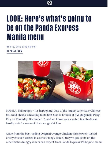 Panda Express launch