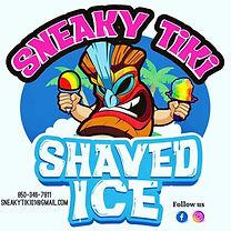 Sneaky Tiki Shaved Ice Logo