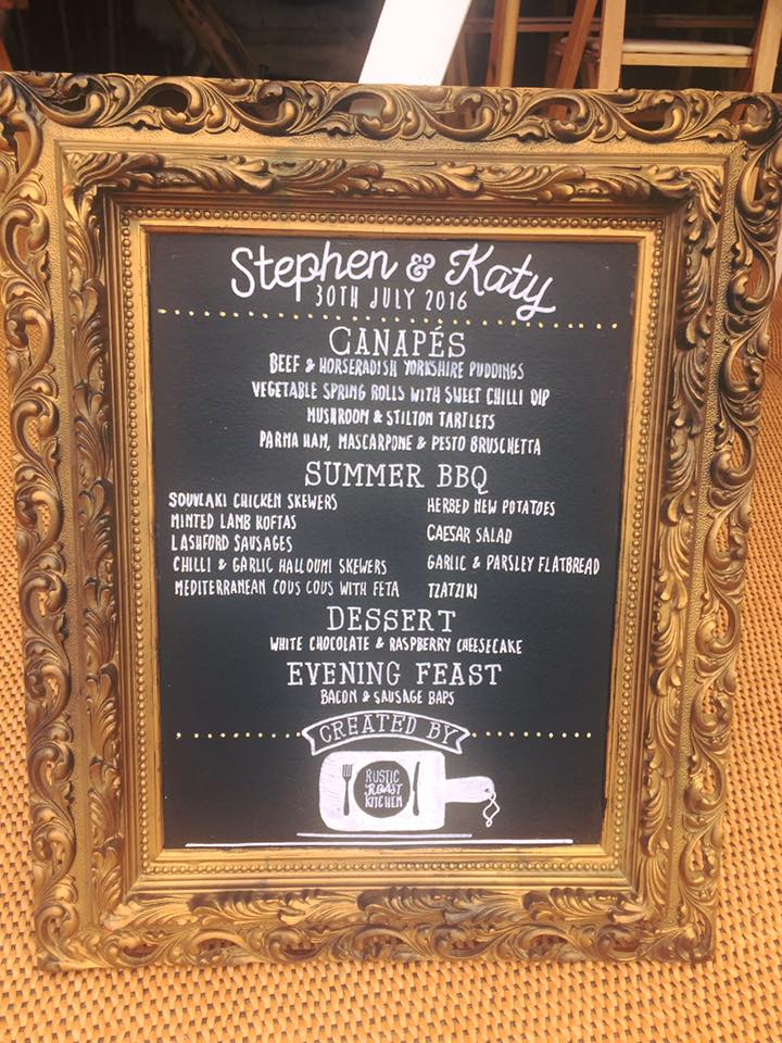 Stephen & Katy Menu