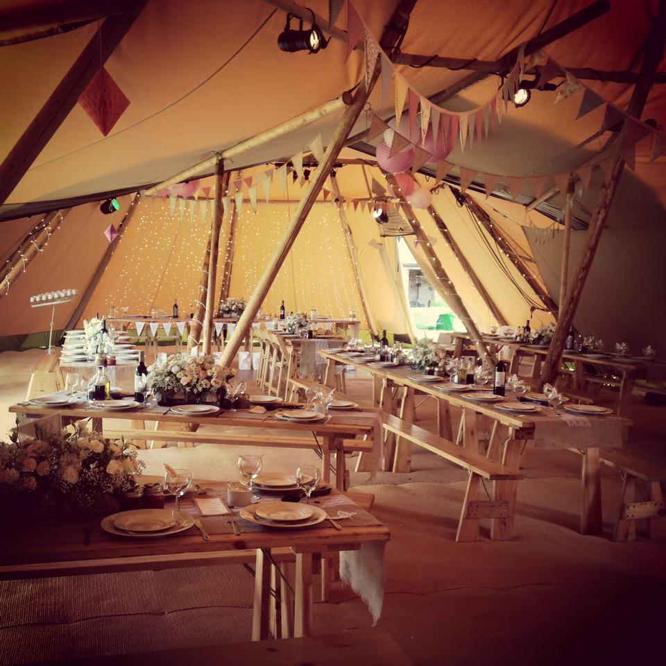 Tipi Table Set Up