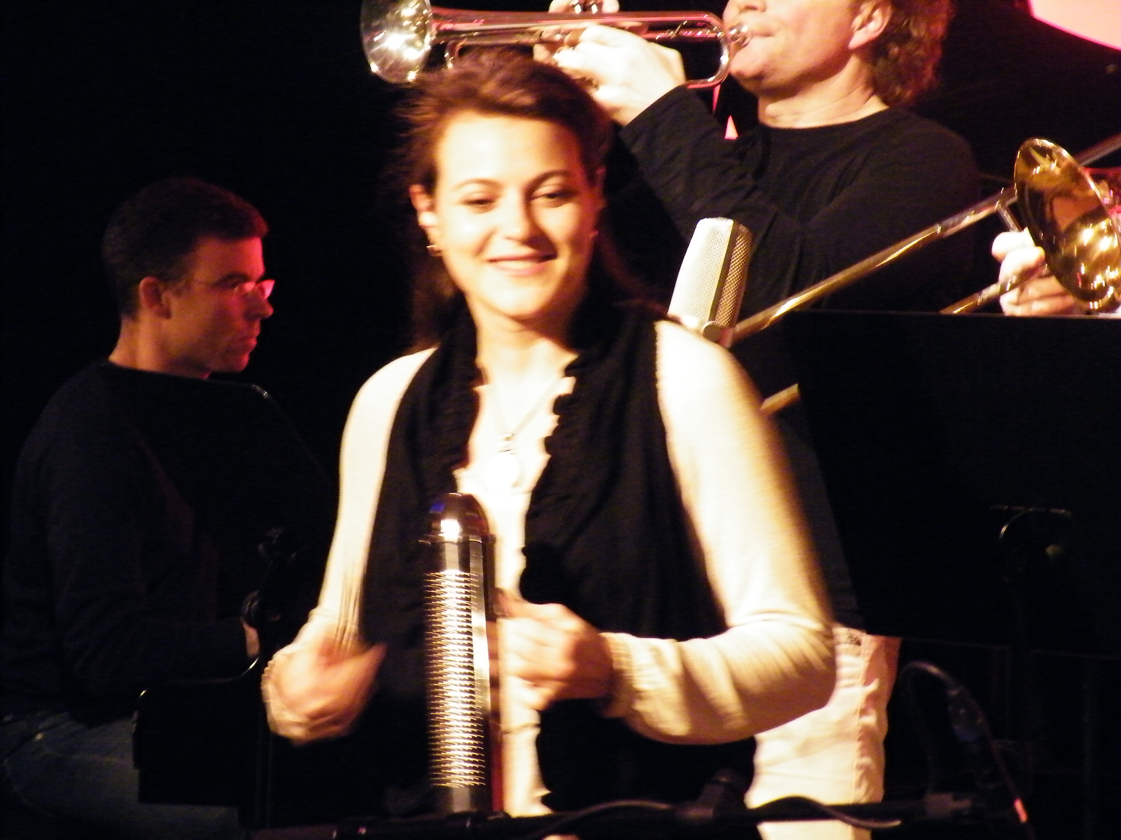 sandra on percussion