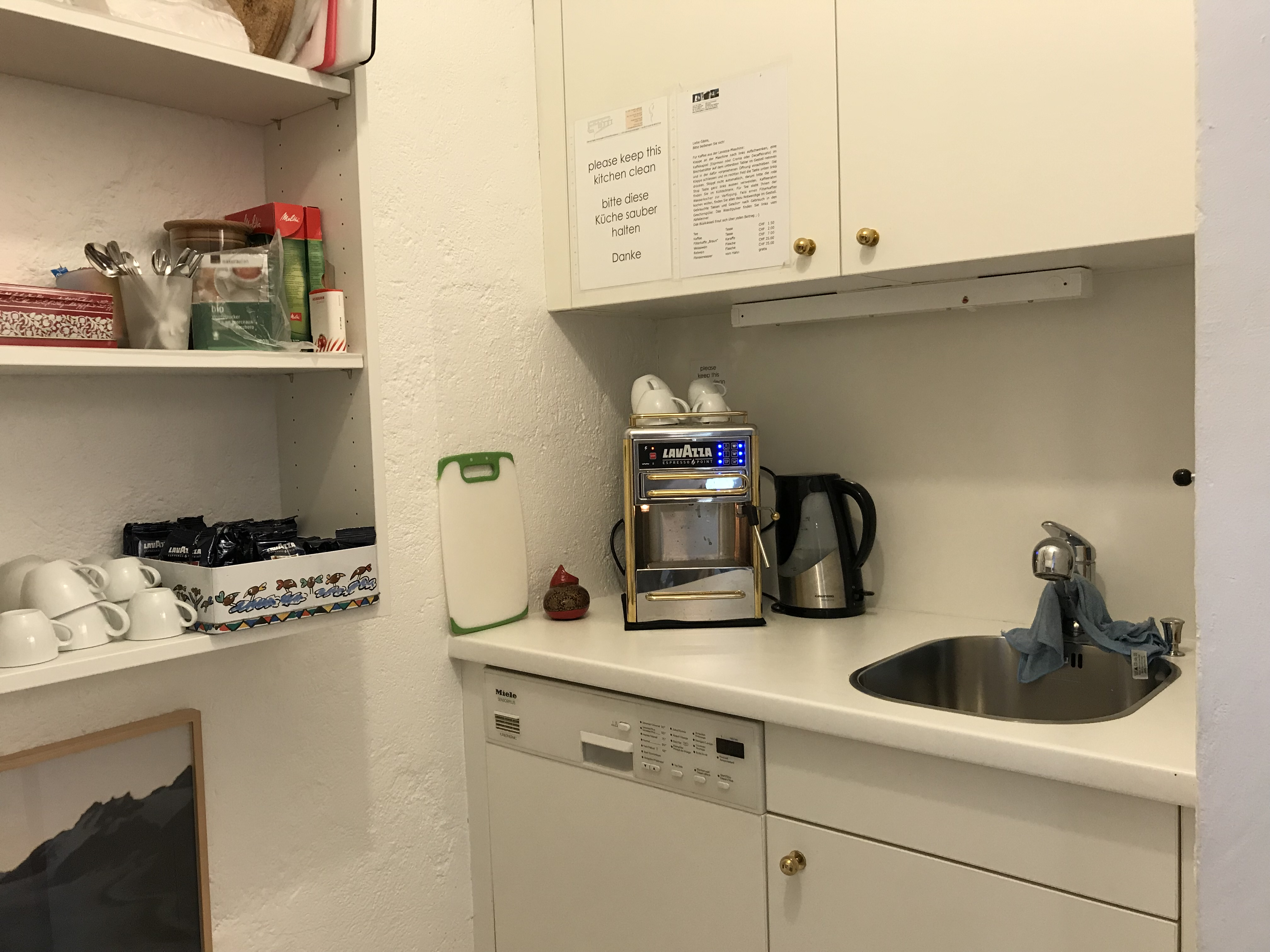 Casa Las Caglias - Kaffeeküche