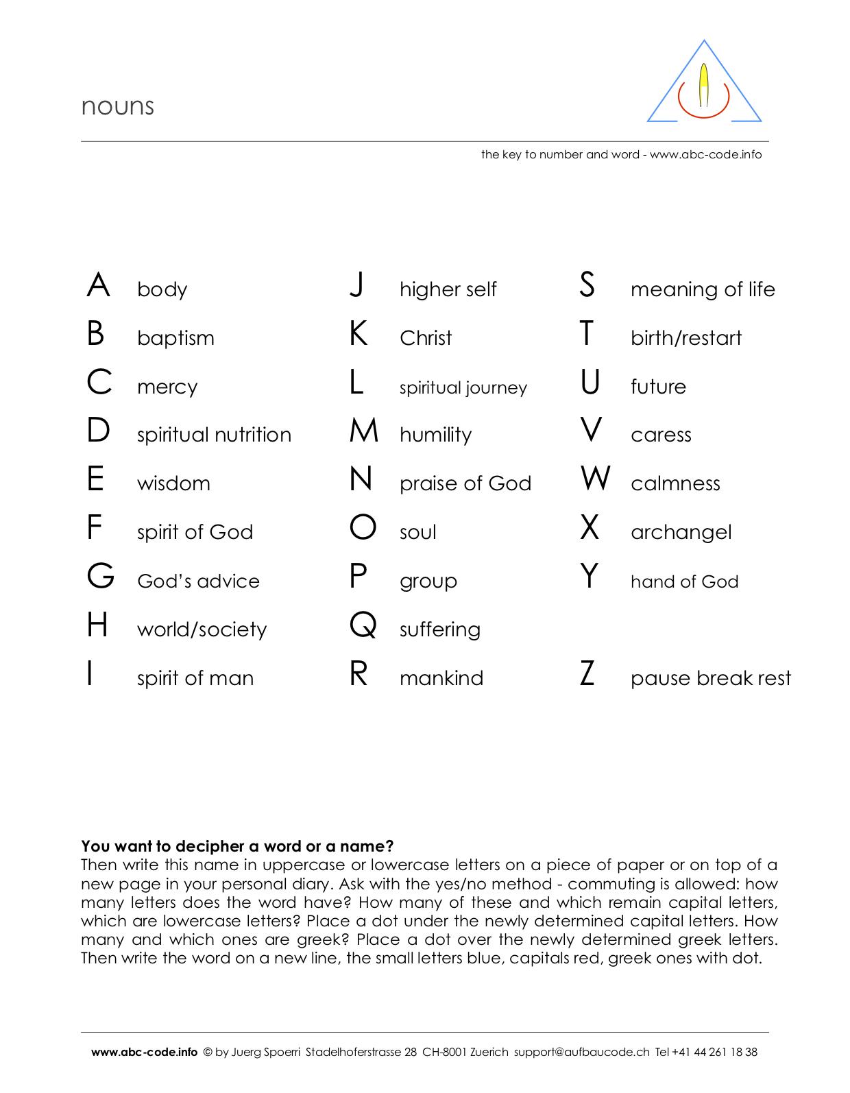 abc-code.info - nouns