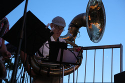Juerg and sousaphone